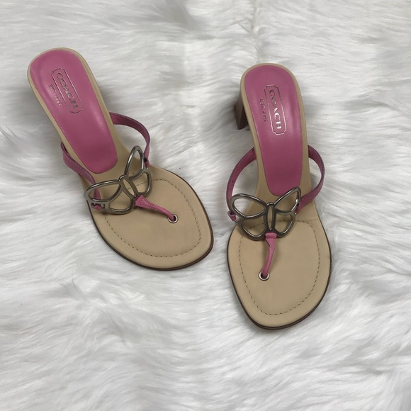 Coach Amara Leather Sandals free shipping eastbay clearance marketable SnLCIPt